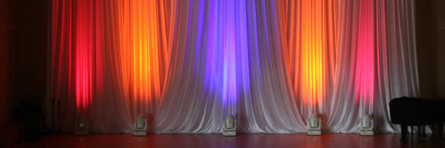 Theater curtain manufacturer stage curtain border black and white
